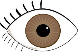 Brown eyes clipart free images