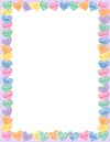 Candy heart border clip art page and vector graphics 2