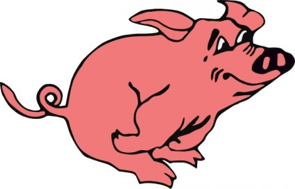 Cartoon pig clip art free vector for download about 2