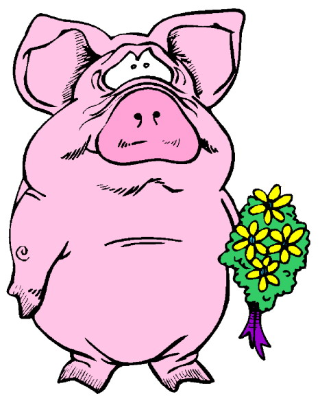 Cartoon pig clip art free vector for download about 3