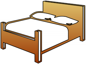 Clipart bed clipart