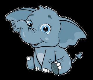 Cute baby elephant clip art clipart