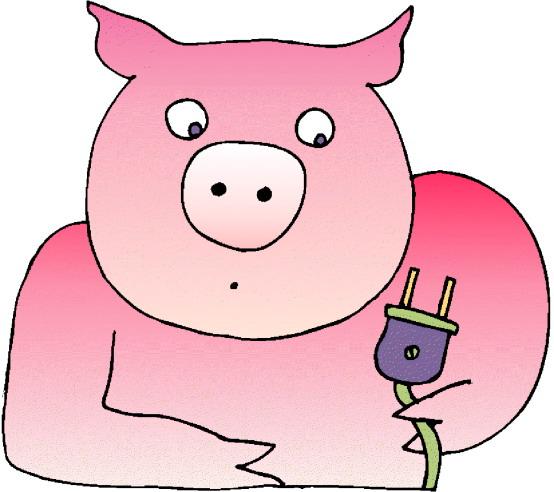 Cute pig clipart