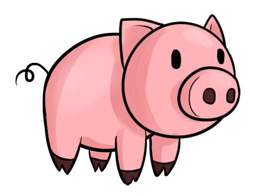 Cute pig face clip art free clipart images 3
