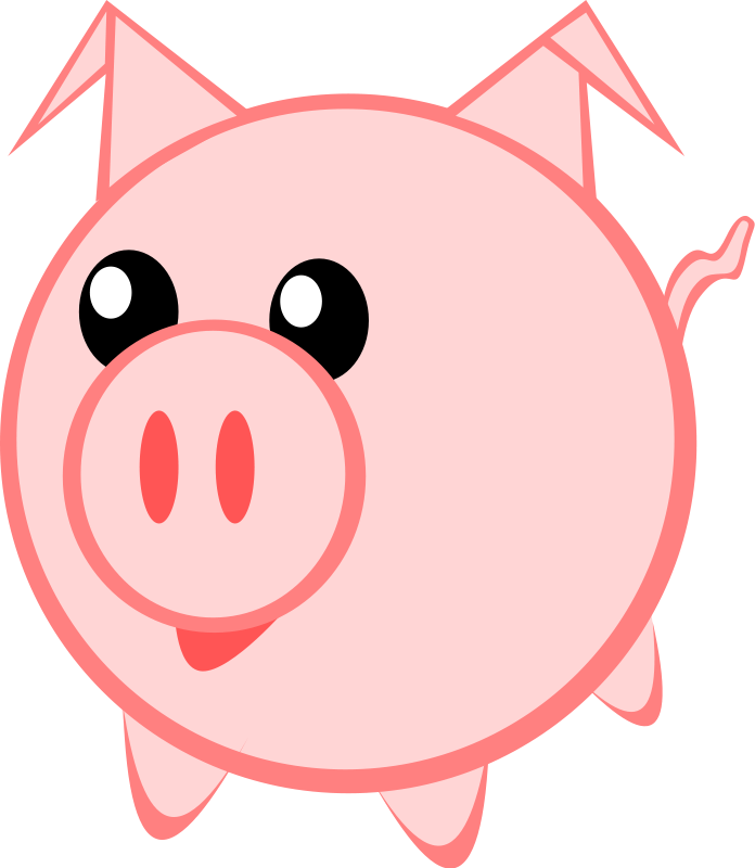 Cute pig face clip art free clipart images