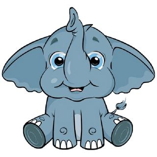 Elephant clip art outline free clipart images 2
