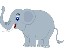 Elephant clip art templates free clipart images