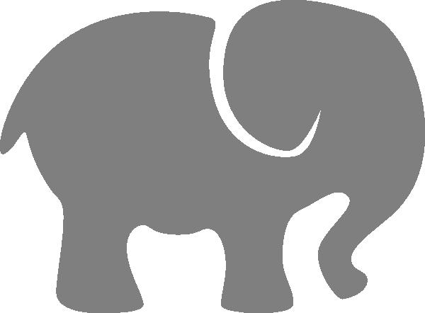 Elephant silhouette clip art gray elephant vector 2