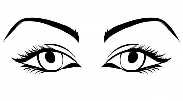 Eyeball eye clipart or cartoon image