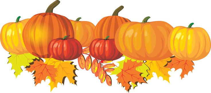 Fall pumpkins and leaves clip art great recipes art