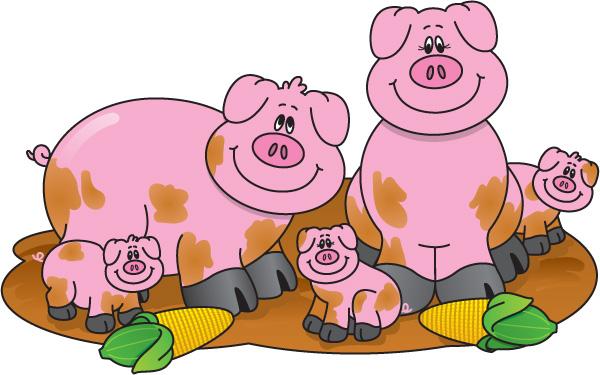 Farmer pig clipart