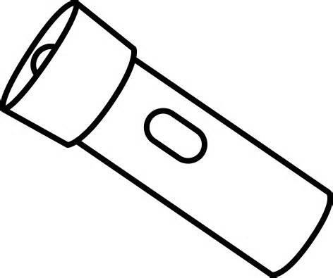 Flashlight clip art at vector clipart