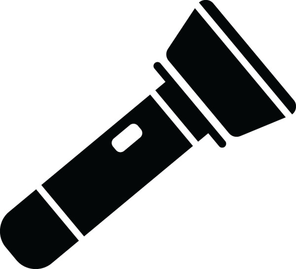 Flashlight clip art for custom engraved products