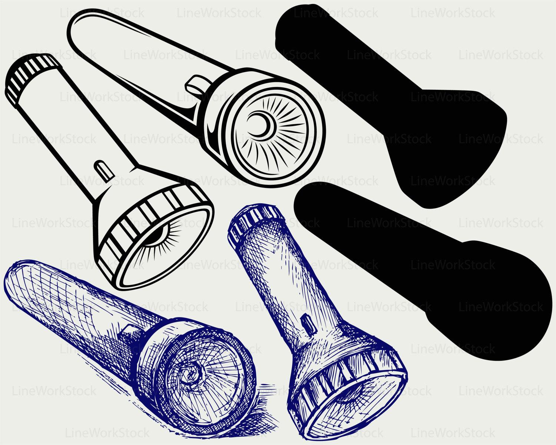 Flashlight svg flashlight clipart