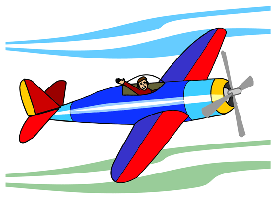 Free aircraft animations airplane clipart image