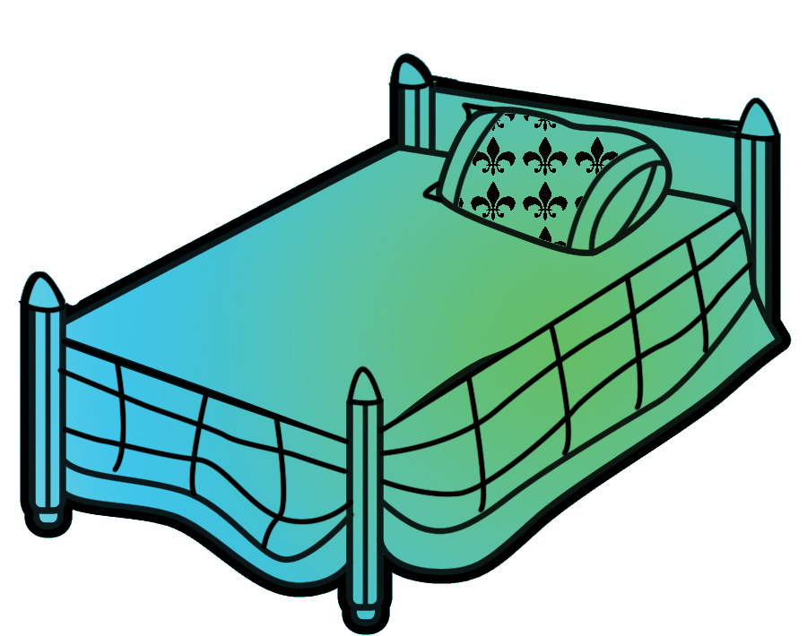 Free bed clipart clip art image of