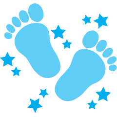 Free clip art baby feet borders clipart images 5