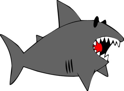 Free clip art shark clipart