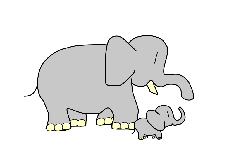 Free elephant clipart and animations