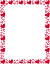 Free heart borders clip art page and vector graphics