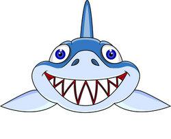 Friendly shark clip art free clipart images 3