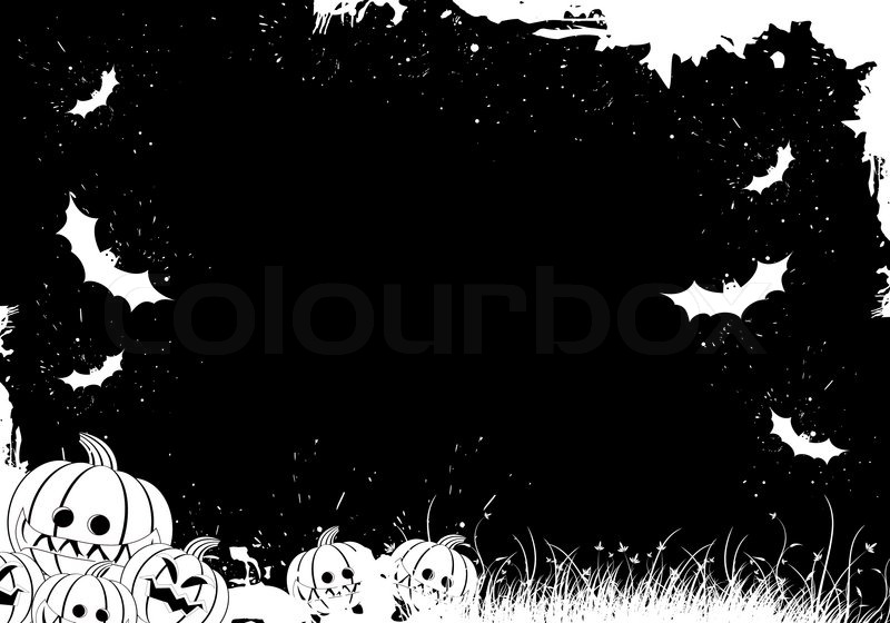 Grunge halloween border stock vector colour
