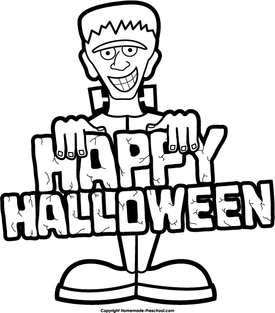 Halloween  black and white free halloween clipart 2