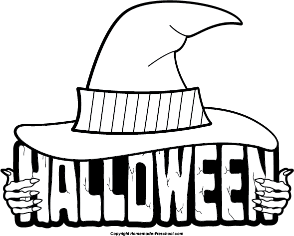 Halloween  black and white halloween clipart black and white free