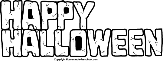 Halloween  black and white happy halloween clipart black and white festival collections
