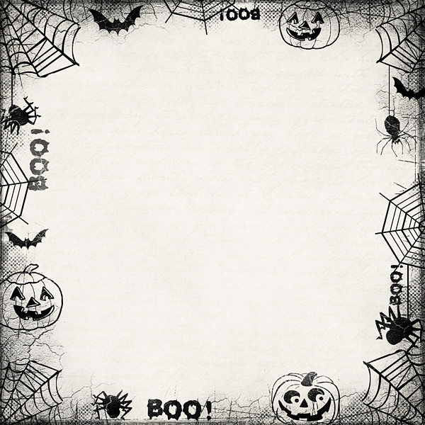 Halloween border pickleberrypop element packs borders edges halloween 2