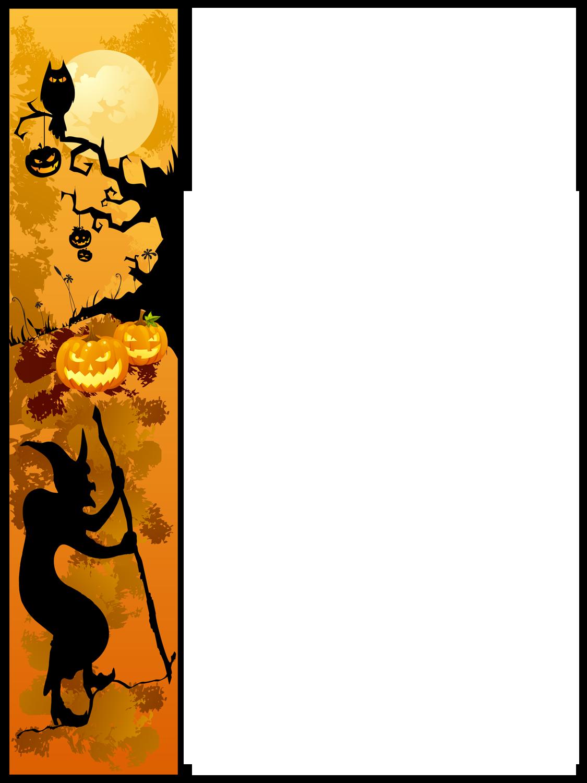 Halloween border pumpkin clip art