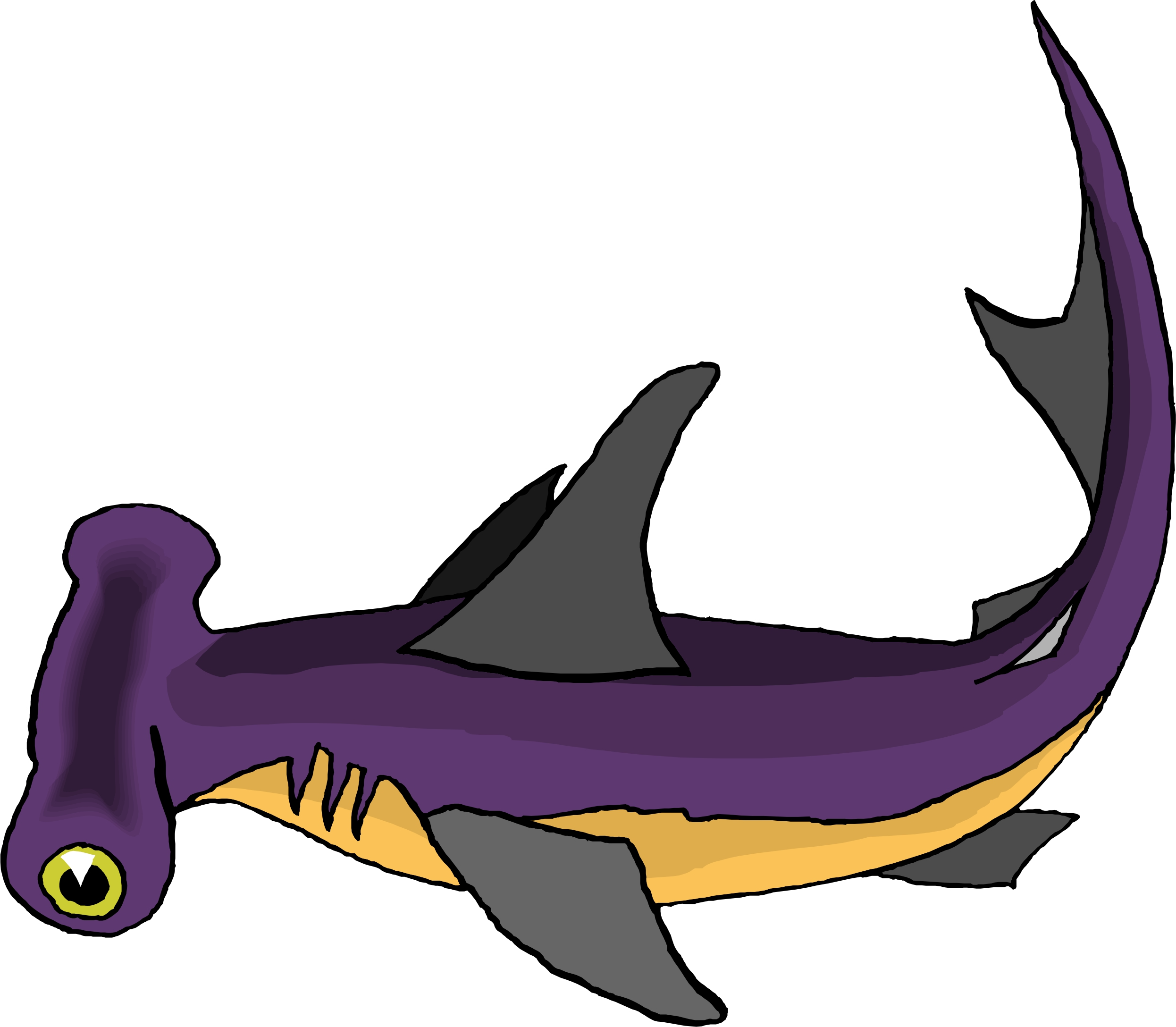 Hammerhead shark clip art free clipart images