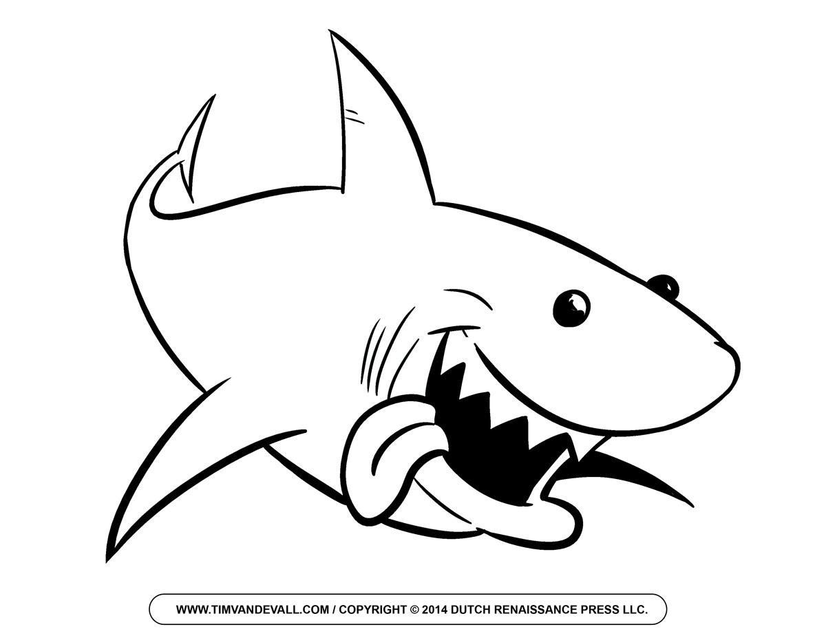 Happy shark clip art free clipart images