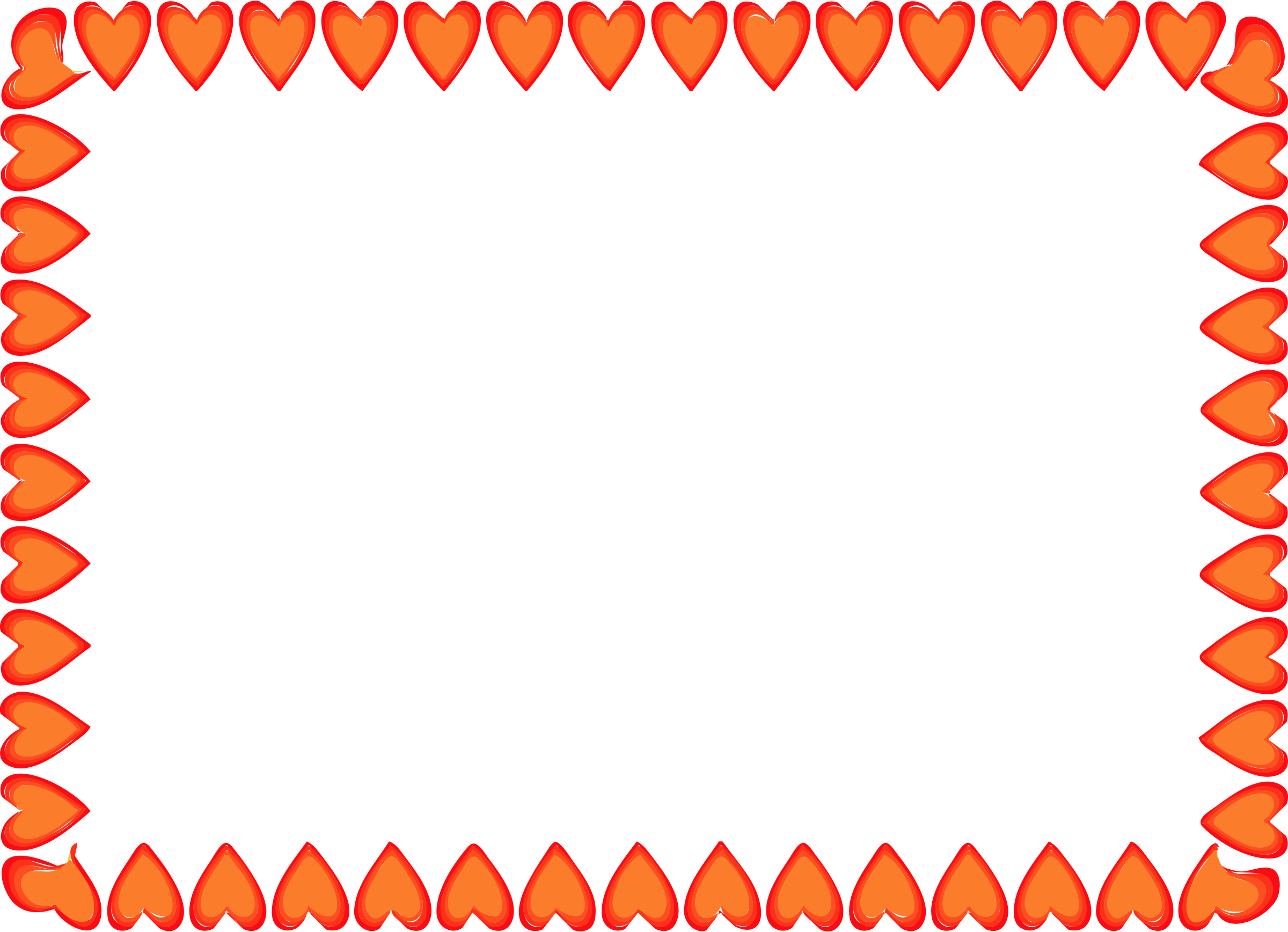Heart border clipart red hearts border