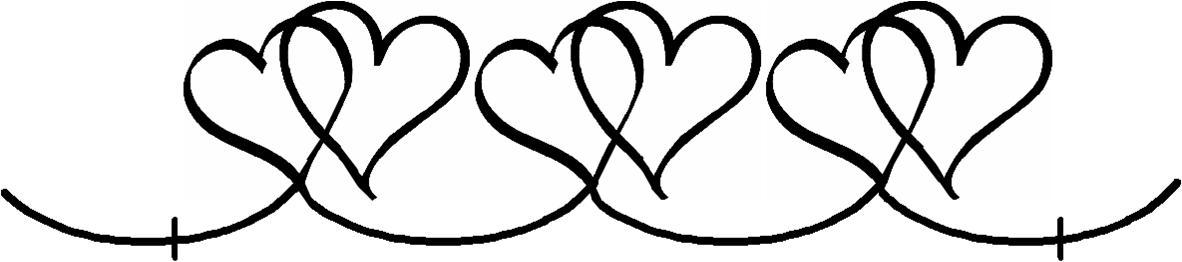 Heart border large full line stencil
