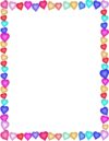 Heart border multicolor page frames holiday