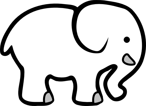 Indian elephant clip art free clipart images