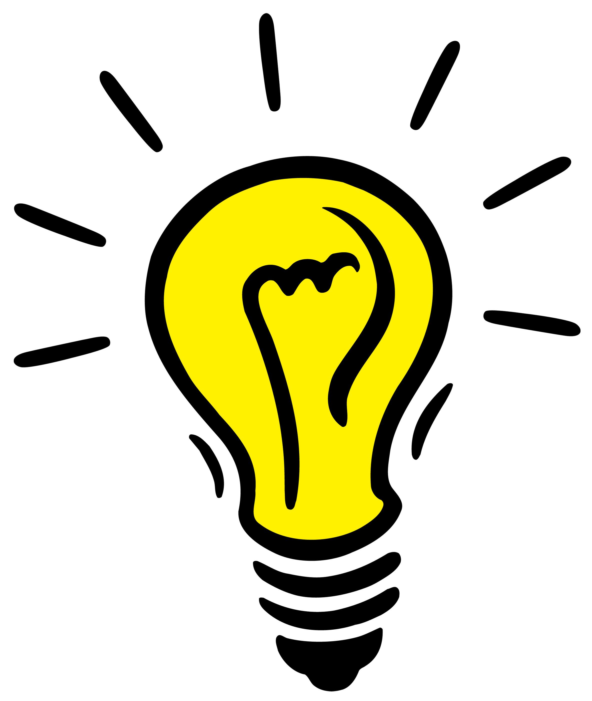 Light bulb idea clip art free clipart images