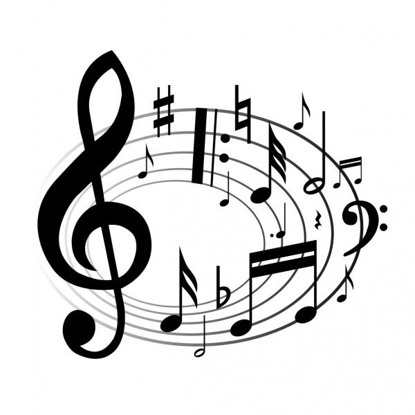 Music note clip art transparent background clipart