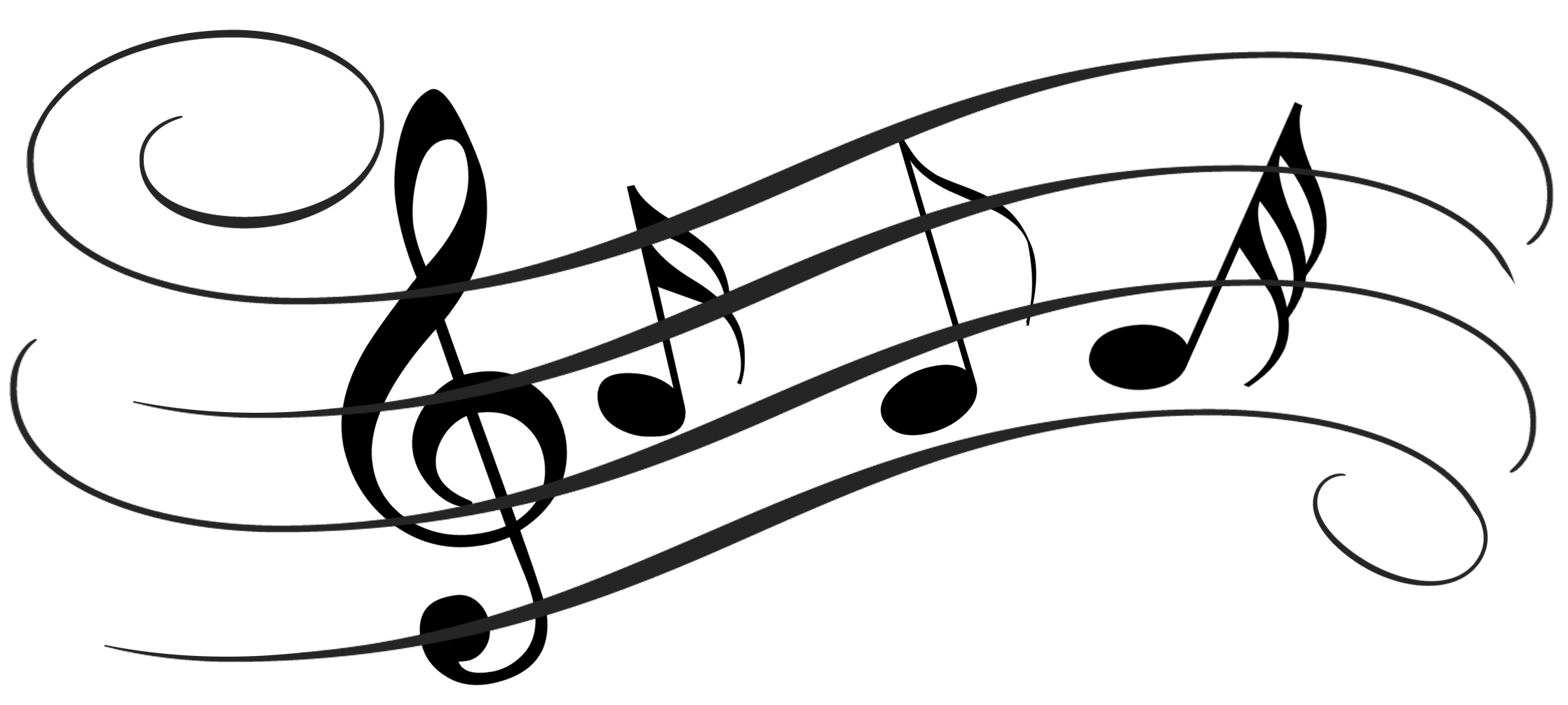 Music notes on staff clipart free images
