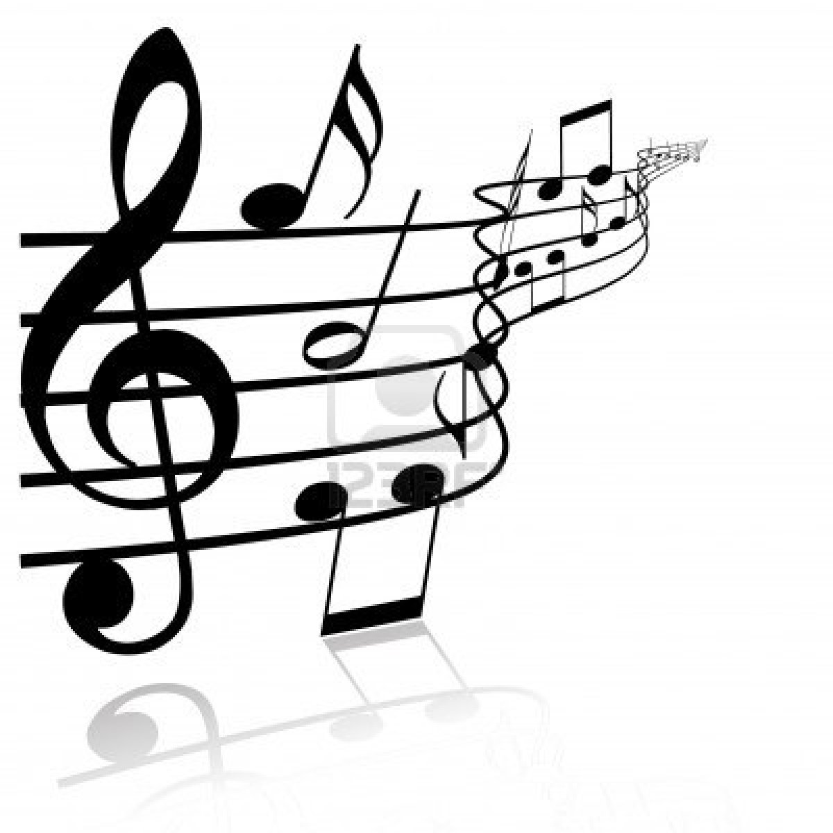 Musical music notes clip art and image 3
