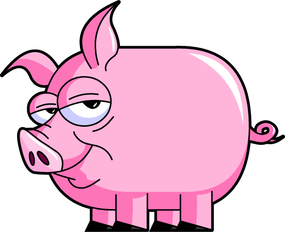 Pig clip art dxf free clipart images 2