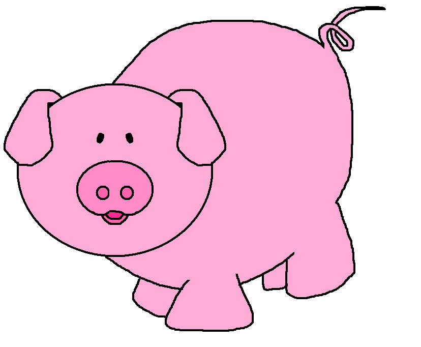 Pig clip art outline free clipart images 2
