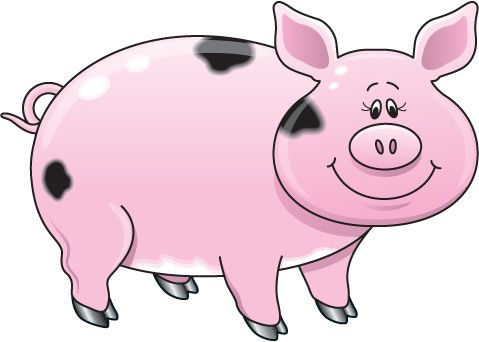 Pig clip art outline free clipart images