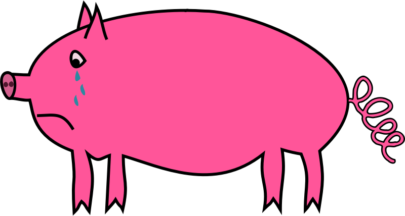 Pig free to use clip art 3