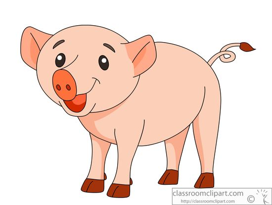 Pigs clip art 6