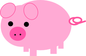 Pink pig clip art at vector clip art