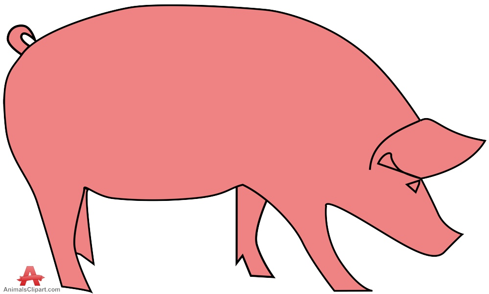 Pink pig simple clipart free design download