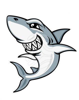 Shark clipart black and white free images