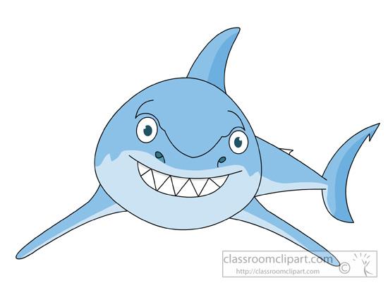 Shark clipart great white shark cartoon style 2